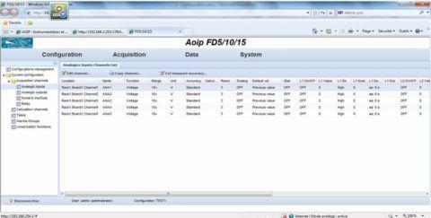 Acquisition de données rapide avec serveur web intégré